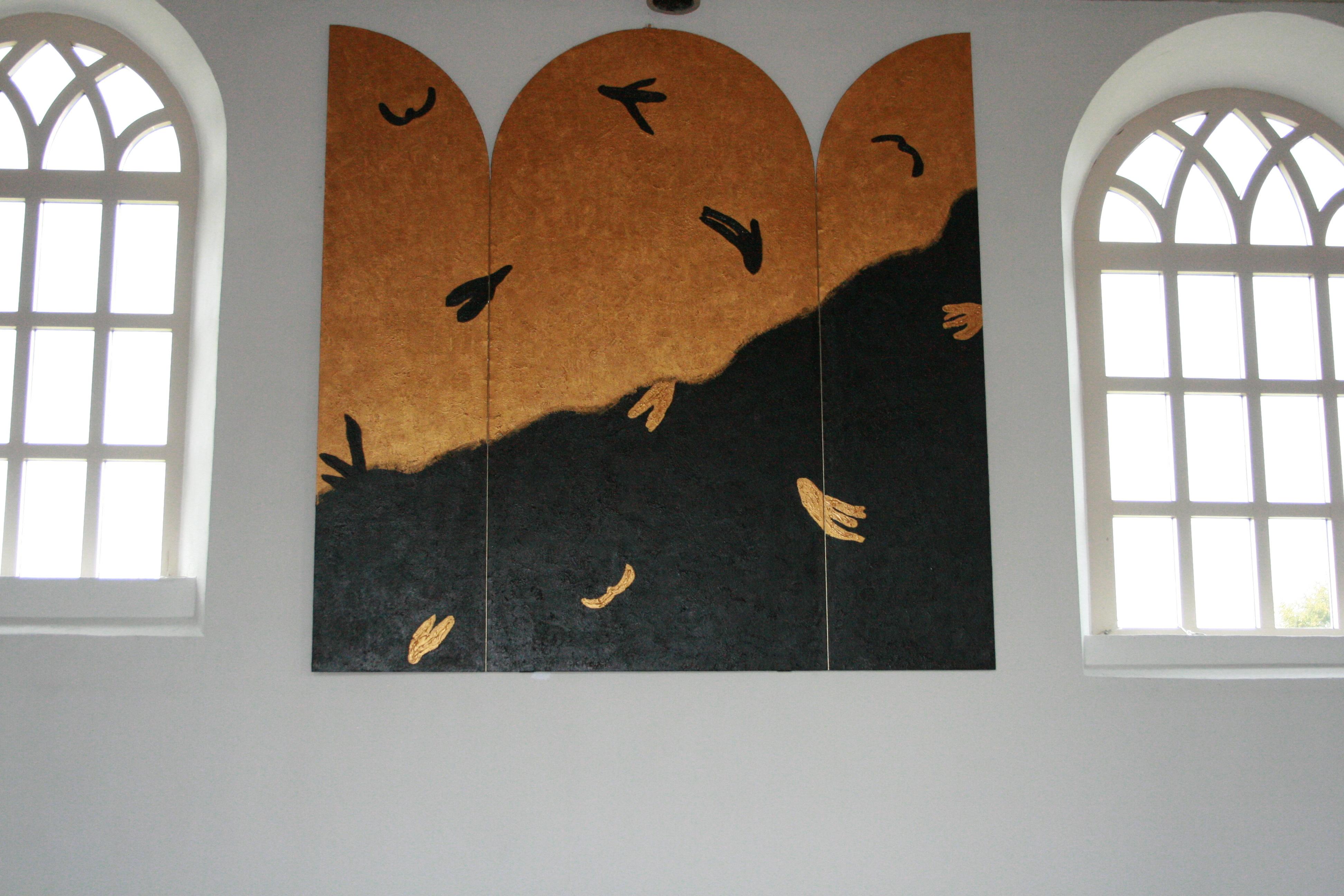 Drieluik voor de kerk in Boijl.